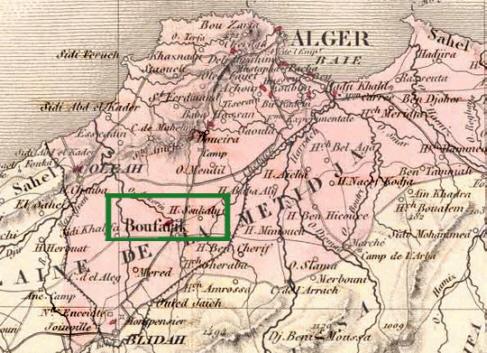 Carte Algerie Boufarik.Boufarik